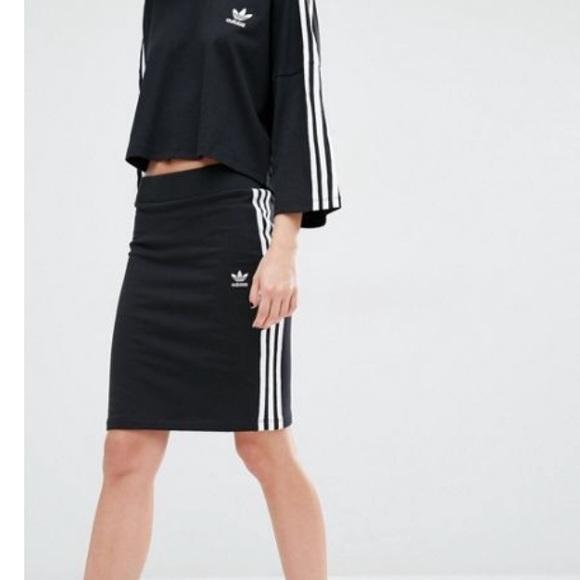 e9f30c50dd05 adidas Dresses   Skirts - Adidas Originals Three Stripe Skirt